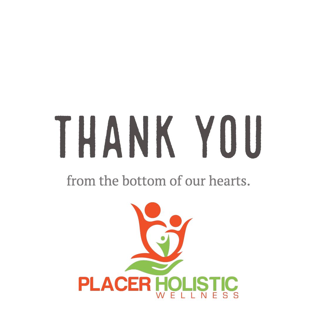 Placer Holistic Wellness Closes